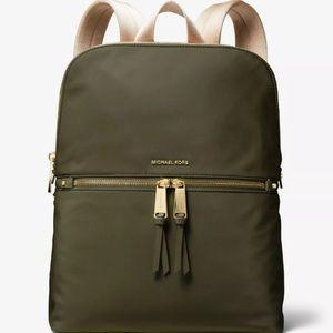 Michael Kors Polly Rhea Large Nylon Slim Backpack